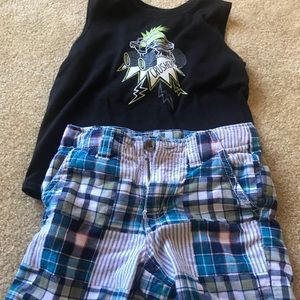 Boys shorts & muscle tank 2T